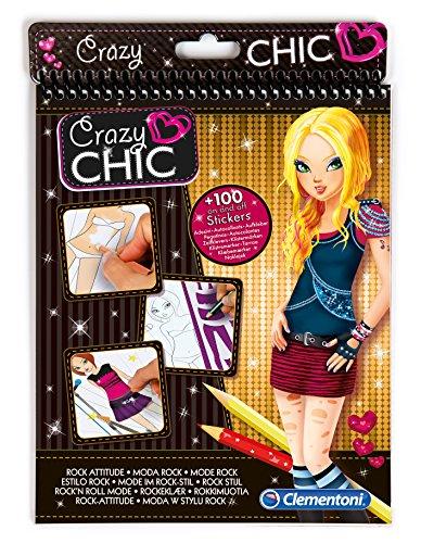 Clementoni 15765 - Crazy Chic Sketchbook Rock