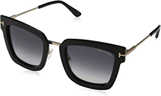 Tom Ford Women's Sunglasses Square FT0573 Gold/Black