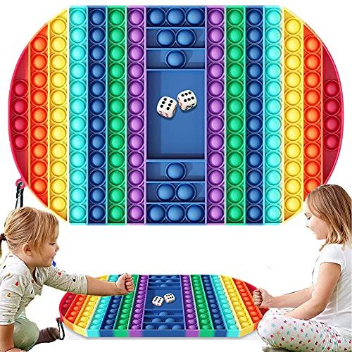 MDJEWV Póp it Gigante, Póp it Fidget Toy, Pùsh Póp Juguetes Niños y Adultos, Antiestres Niños Ajedrez Sensory Toys Ayuda a Adultos y Niños a Aliviar la Ansiedad, Regalo para Niños y Adultos