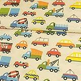 Stoffe Werning Dekostoff Bunte Autos Kinderstoffe Canvas -