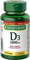 Nature's Bounty Vitamin D3 Pills and Supplement, Helps in development of bones and teeth, 1000iu, 500 Softgels
