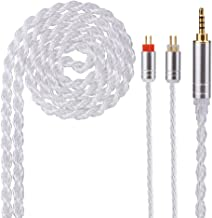 6 Core Silver Plated Wire Upgrade Cable,Better 2 PIN 2.5 mm High Sound Quality Improvement Mania Oriented Replacement Cable C10 ZSA ES 4 ZST ZS 10 ED 15 ES 3 ZS 5 ZS 6 TRN SIMGOT EN 700 PRO TFZ etc.
