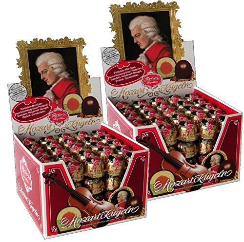 Reber Spezialitäten Mozartkugel 45 Stück 900g, 2er Pack (2 x 900g= 90 Stück)