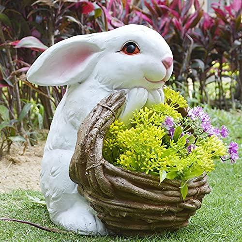 Idea Basket White Lowest price challenge Rabbit Flowerpot Balcony Succulent Planti A surprise price is realized Vase