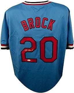 Lou Brock Autographed St. Louis Cardinals Custom Blue Baseball Jersey - JSA COA (C)
