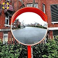 FXLYMR セーフティミラー屋外パノラマドライブウェイ凸面鏡折り返し路観察信号アンチコリジョンミラーブラインドスポットミラー、屋外の交通広角レンズ,80Cm