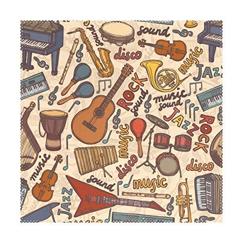 JIRT Musique Art Life Facile à Nettoyer Napperon Lisse Tapis de Table Banquet Tapis antidérapant