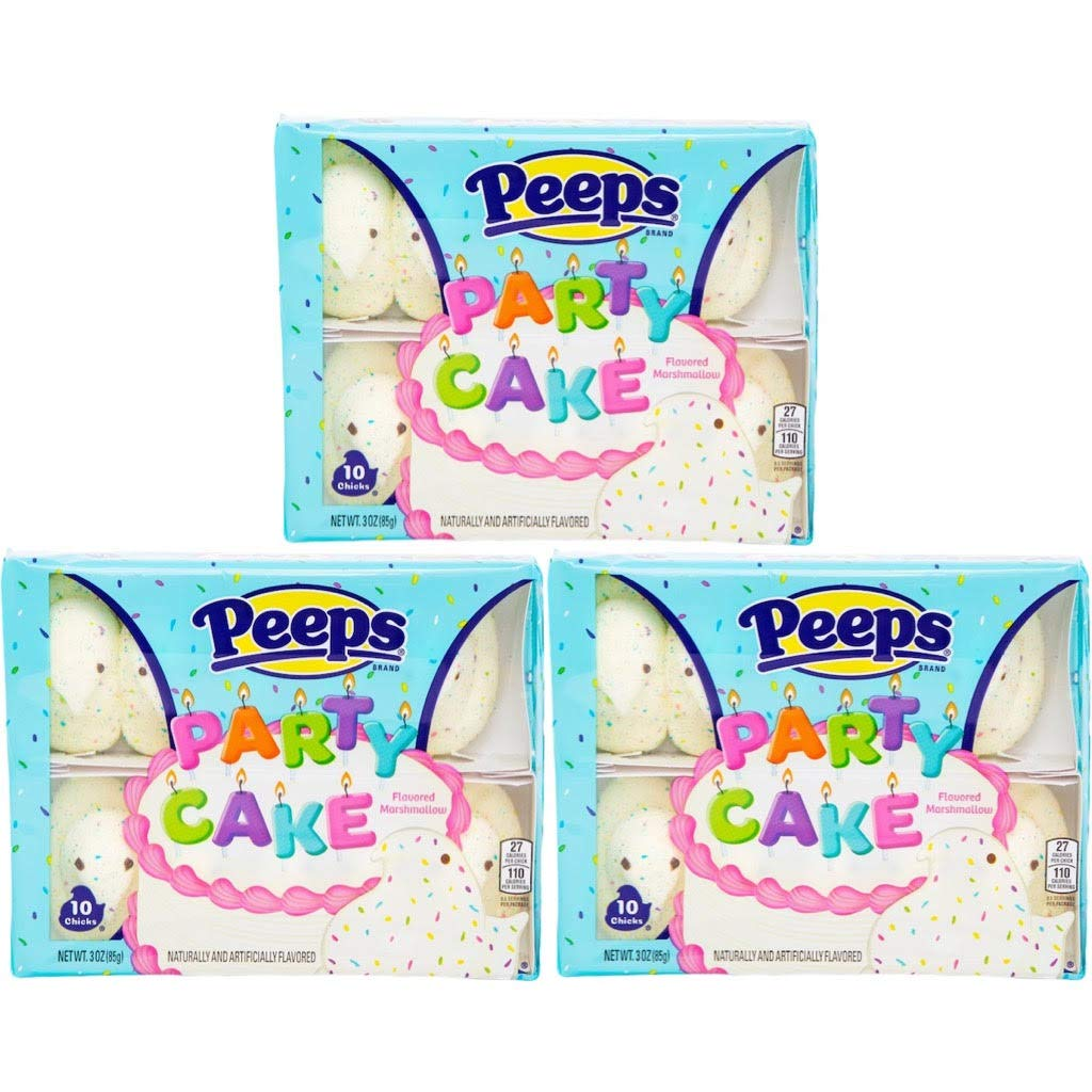 Party SEAL limited product Birthday Ultra-Cheap Deals Cake Flavored Bulk Marshmallow Peeps Candy Set o