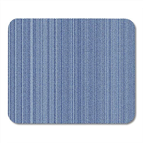AOHOT Mauspads Pattern Herringbone Vintage Blue Jeans Denim is Distressed Material Angle Mouse pad 9.5