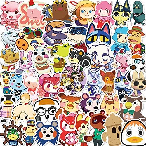 BLOUR 50/100 Uds, Pegatina de Cruce de Animales, Juguete Impermeable para niños de Dibujos Animados, Pegatina Mixta, Scooter, Bicicleta, teléfono móvil, portátil, Viaje
