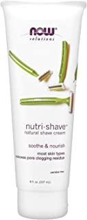 NOW Solutions, Nutri-Shave, Shave Cream, Removes Pore Clogging Residue, Reduces Irritation, 8-Ounce