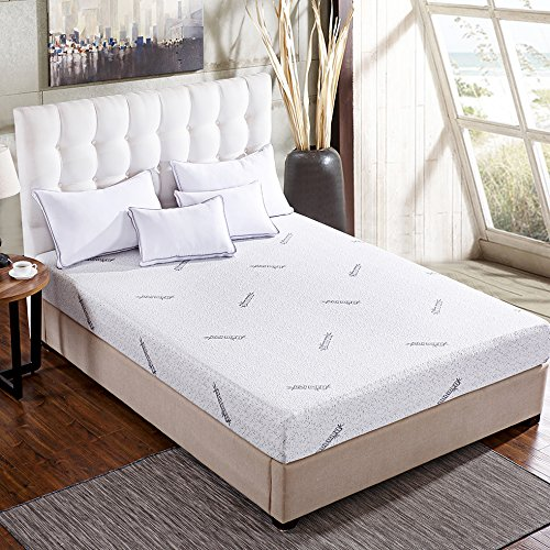 Comfort & Relax Memory Foam Mattress with Gel-infused AirCell Tech, Bamboo Fabric Cover, 6 Inch TWIN