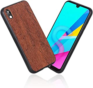 LittleBlack Wood Grain Huawei Y5 2019 Case Huawei Honor 8S Case, Retro Phone Cases Premium PU Leather TPU Bumper PC Protection for Huawei Y5 2019 / Honor 8S Brown