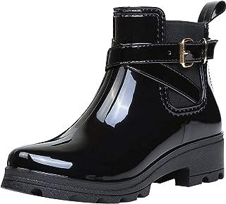 Botas de Agua Bota de Goma Mujer Impermeable lluvia Zapatos Tobillo Casual Calzado