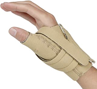 Comfort Cool Thumb CMC Restriction Splint. Beige Patented Thumb Brace Provides Support, Compression. Helps Arthritis, Tendinitis, Surgery, Dislocations, Sprains, Repetitive Use. Right Medium Plus.