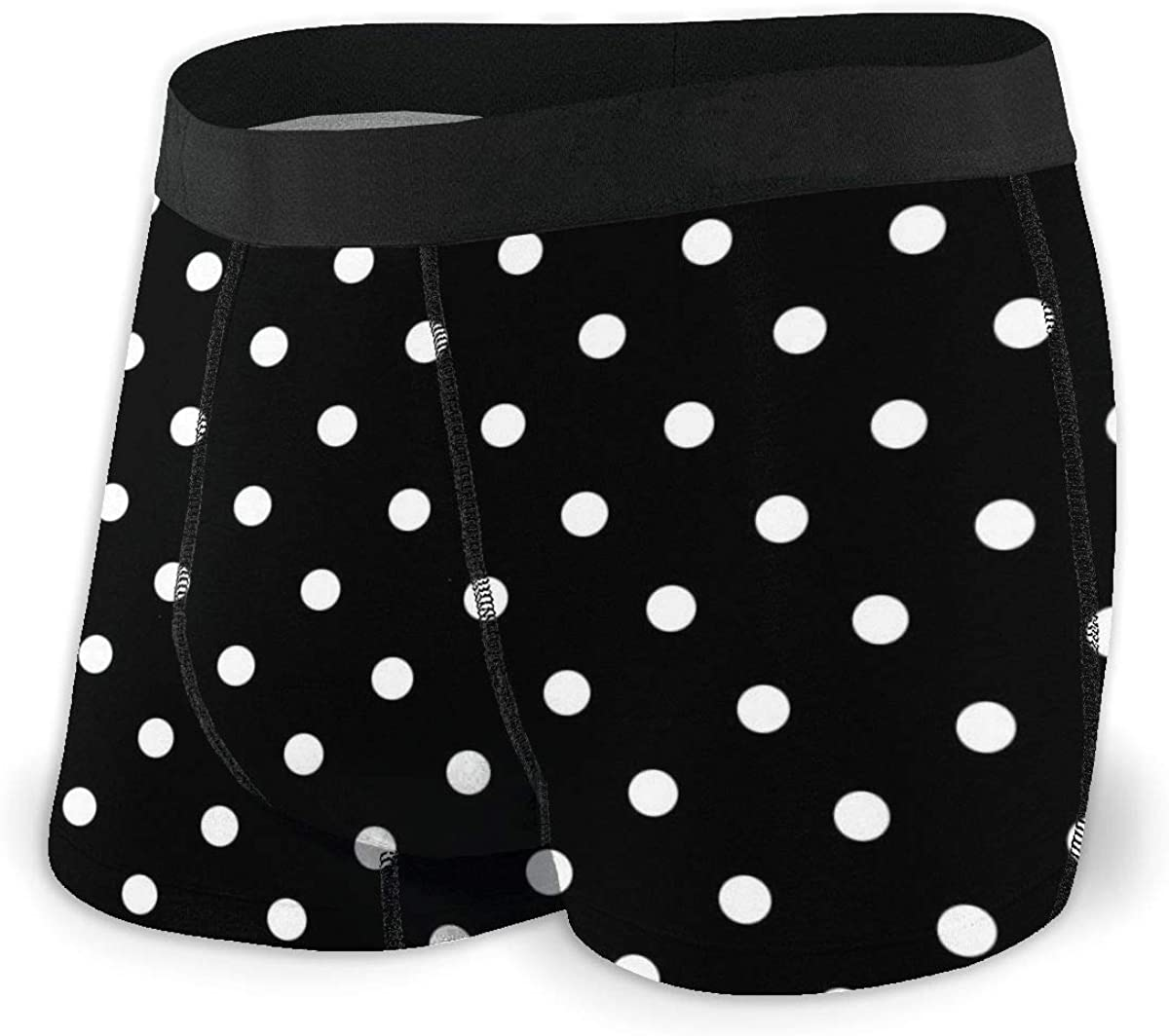 Mens Boxer Briefs Butterfly Polka Dots Bikini Underwear Stretch Low Rise Trunks Boys Underpants