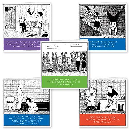 5 Fred humorkaarten