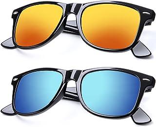 Unisex Polarized Sunglasses Classic Stylish Sun Glasses for Men and Women Color Mirror Lens: 100% UV Blocking