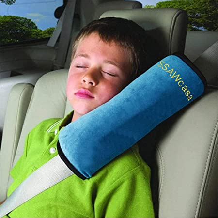 children adult automotive seat belt pads multi-functional pads for car and truck seat belts Black with red seam set of 2 seat belt pads for shoulder belts ECENCE Seat belt pads