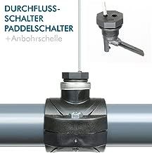 Automatischer Durchflussschalter G3//4-G1//2 Gewinde Wasserpumpe Einstellbarer Durchflusssensor Druck Automatischer Steuerschalter 220 V-Schalter Pro-Controller-Adapter Wasserdurchflussschalter