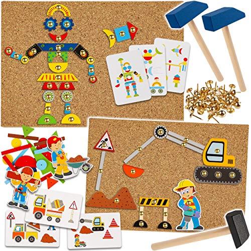 alles-meine.de GmbH XXL Set - Hammerspiel - 388 Teile - Modellwahl - Roboter & Baustelle / für Kinder - Klopfspiel...