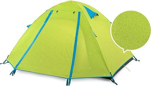 HAOHAOWU Tentes familiales, Double Triple Quatre modèles de Pression Tente de Camping crème Solaire étanche Anti-moustiques