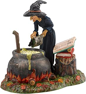 Department 56 Snow Village Halloween Accessories Witch Hollow Fire Burn and Cauldron Bubble Figurine, 3.43 Inch, Multicolor