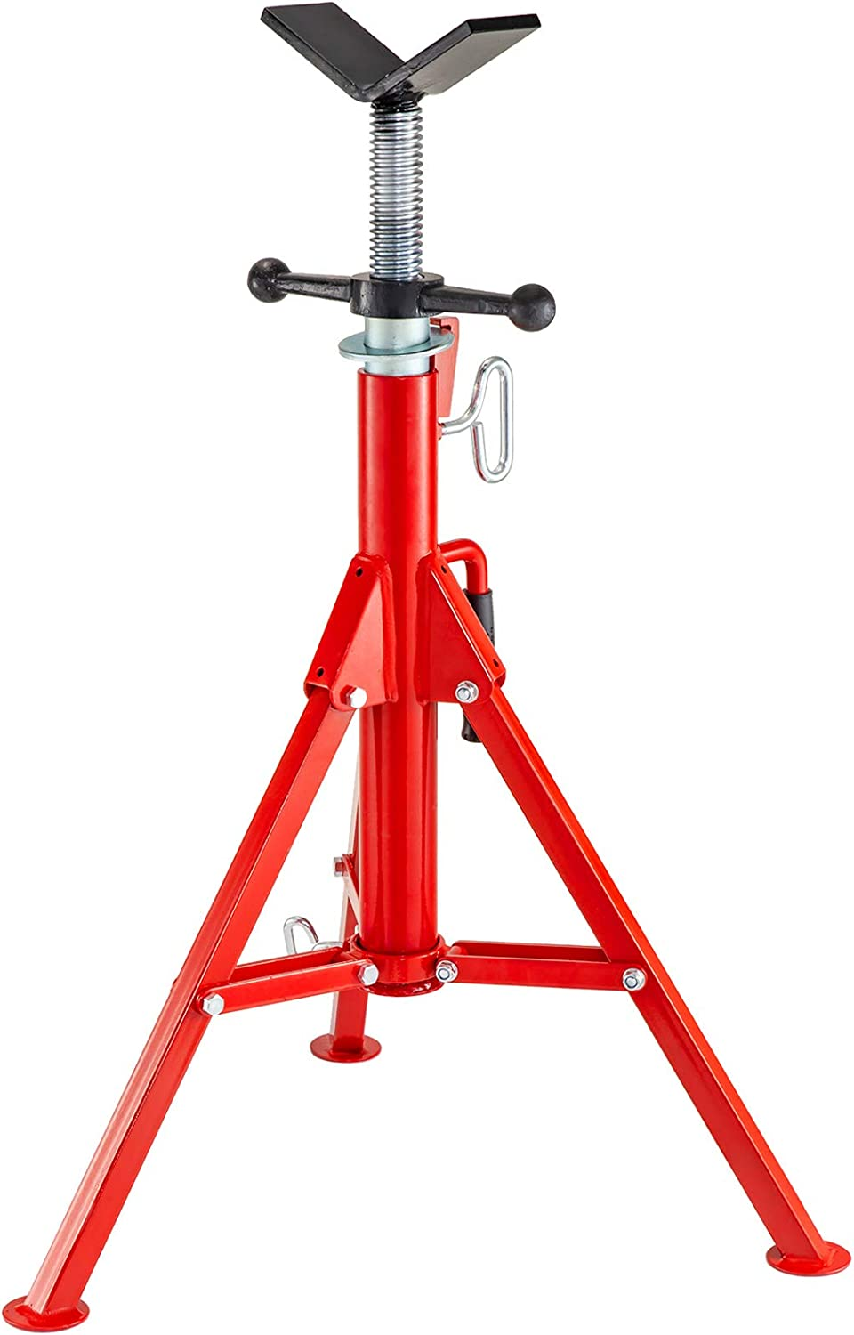Mophorn V Head Pipe Stand Adjustable Height 28-52 Inch, Pipe Jac