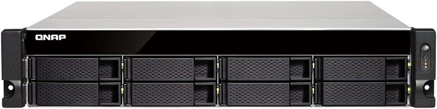 QNAP TS-863XU-RP-4G-US 2U 8-Bay AMD 64bit x86-based NAS and iSCSI/IP-SAN, Quad Core 2.0GHz, 4GB RAM, 4 x 1GbE, 1 x 10GbE (...