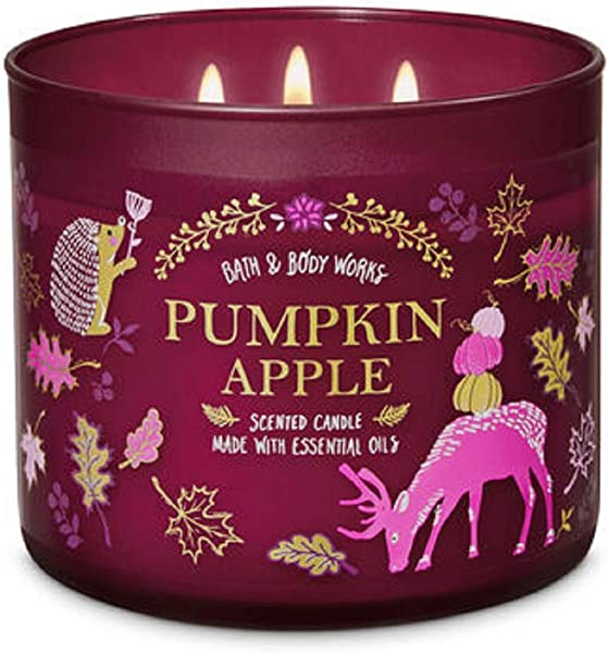 Bath And Body Works 3 Wick Scented Candle Pumpkin Apple 14 5 Ounce