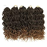 MATERIAL: 100% Kanekalon Heat Resistant High Temperature Fiber. ATTRIBUTE: Pre-Looped Curly Style Reach to 14 Inch, When Straighten It Can Reach 18 Inch, That Mean Equal 45.72cm, 90gram Per Pack, 30 Strands for One Pack, 5 Packs A Lot. FULL HEAD SET:...