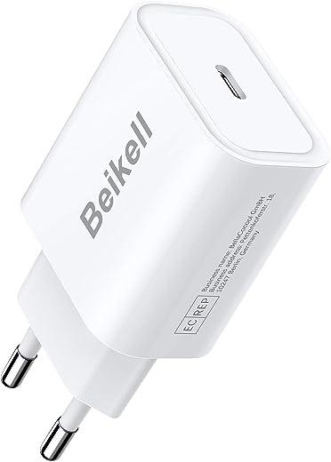 Beikell 20W USB C Ladegerät, USB C Netzteil PD 3.0 Ladestecker, Kompatibel mit iPhone 12/12 Pro/12 Mini/11 Pro/SE 2020, iPad Pro 2020, Galaxy…