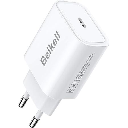 Beikell USB C Ladegerät für iPhone, 20W USB C Netzteil Power Delivery 3.0 Schnellladegerät, Kompatibel mit iPhone 12/12 Pro/12 Mini/11 Pro/SE 2020, iPad 2020/iPad Pro, Galaxy S10/S20 usw.