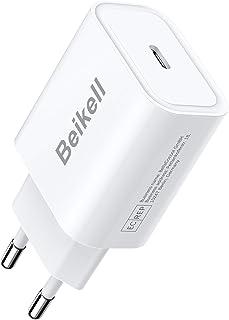 Beikell 20W Cargador USB C, Cargador Móvil USB C Power Delivery 3.0 Carga Rápida y USB QC 3.0 para iPhone 12/12 pro/12 pro...