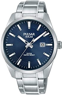 Pulsar Solar Men's Watch Stainless Steel with Metal Strap