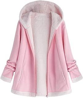 TOTOD Coat Jacket Women Fashion Curved Hem Outwear Faux Fur Sherpa Fleece Sweater Hoodie Loose Button Outercoat