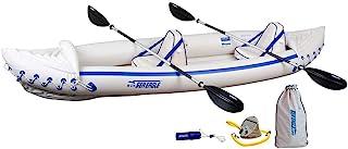 Sea Eagle 3 Person Inflatable Portable Sport Kayak Canoe w/Paddles