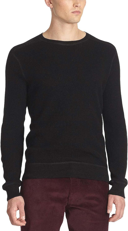 Ralph Lauren Black Label Black Textured Crewneck Sweater Medium M Made in Italy