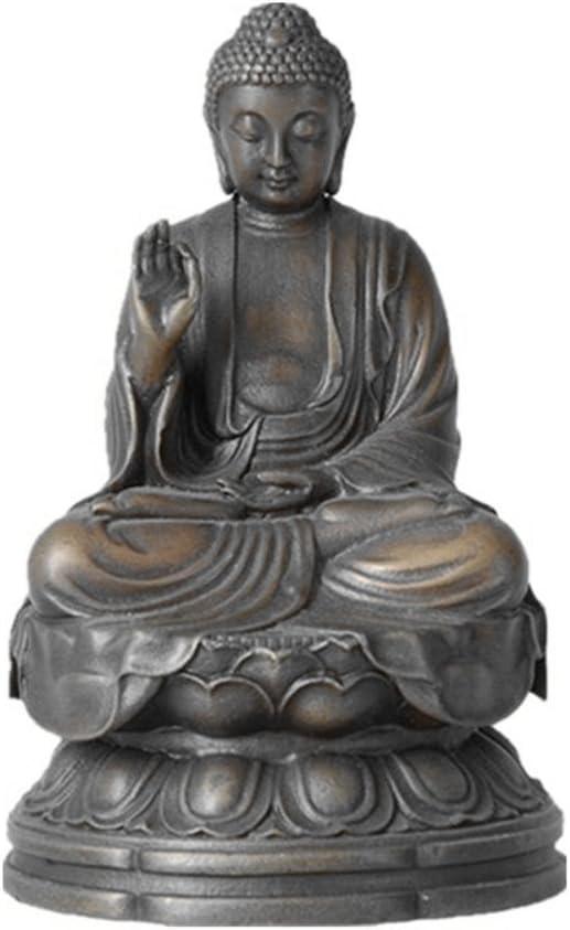 Toperkin Small Fresno Mall Buddha Statues Bronze Decor Regular store Sculptures Buda Home