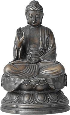 Toperkin Small Buddha Statues Bronze Sculptures Buda Home Decor