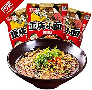 Akuan Chongqing instant noodles with small noodles and spicy noodles 105G9 bags of private noodles with mixed sauce noodles and spicy noodles