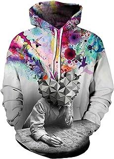 HOP FASHION Unisex 3D Digital Galaxy Print Hoodie Sweatshirts