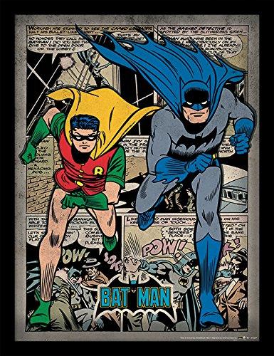 Pyramid International Batman (Comic Montage) 30x40 cm gerahmter Druck, 250GSM PAPERWRAP MDF, Mehrfarbig, 44 x 33 x 4 cm