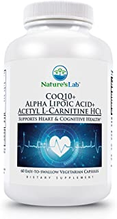 Nature's Lab CoQ10 + Alpha Lipoic Acid + Acetyl L-Carnitine HCl - Supports Heart Health, Brain Health, and Celularl Health...