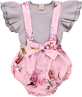 Newborn Baby Girl Clothes Floral Long Sleeve Footless...