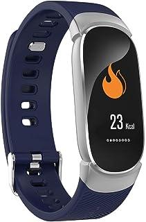 BD.Y Reloj de podómetro Resistente al Agua de 0,96 Pulgadas Monitor de sueño con podómetro de frecuencia cardíaca (Color: Rosa)