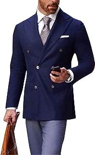 YZHEN Uomo Abito Blazer Stripe Jacket Cappotto Doppiopetto