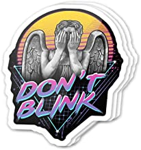 Kachi Art Cool Sticker (3 pcs/Pack,3x4 inch) Don't Blink Weeping Angels Neon Sign Stickers for Water Bottles,Laptop,Phone,Teachers,Hydro Flasks,Car