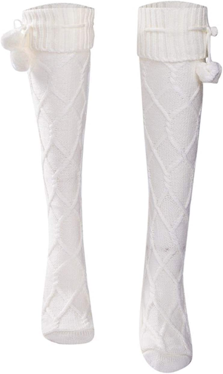 Moonlight Star Stockings Women Knit Cotton Extra Long Boot Over Knee Thigh High Girls Stockings (Color : Beige)