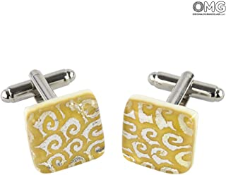 Cufflinks - Ocra - Original Murano Glass OMG